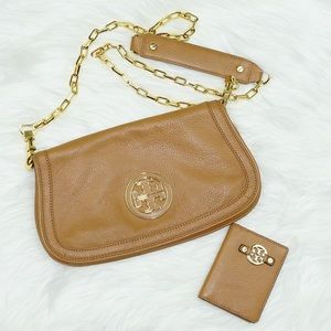 Tory Burch Tan Amanda Chain Crossbody Bag & Wallet